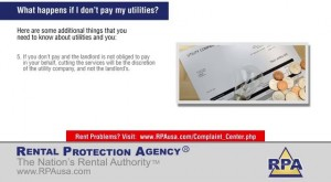 What happens if I don't pay my utilities?