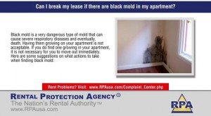 Can I break my lease if there are black mold in my apartment?