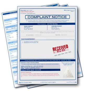 Rental protection agency tenant complaint center for Apartment make ready board